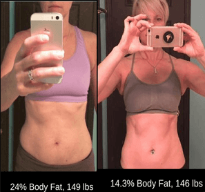 Julie increased her calories, gained muscle and lost fat!