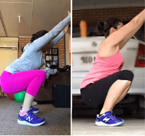 Kylie improved her air squat!