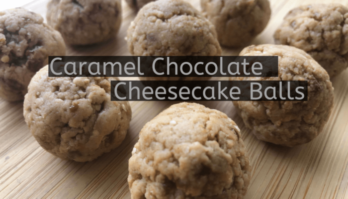 Caramel Chocolate Cheesecake Balls